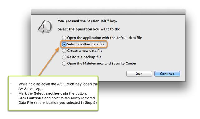 6. Start the AV Server Application