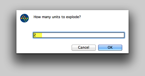 How many units to explode?