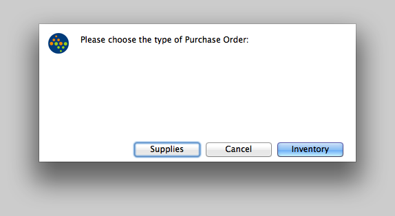 Choose the type of Purchase Order to create.