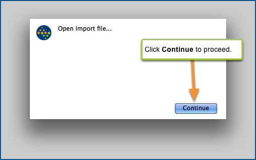 Open the import file...