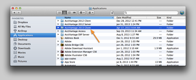 Open a new Finder Window and navigate to the Applications folder.