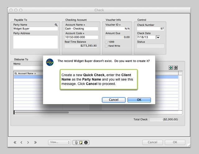 2. Create a Quick Check