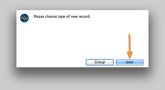 Select the type of record to create