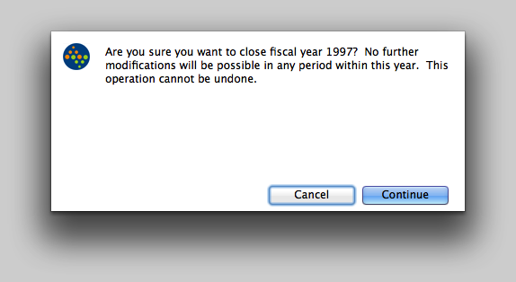 Confirm the Hard Closed Fiscal Year