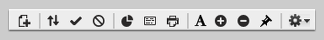 List View icons