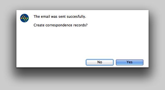 Create correspondence records...?