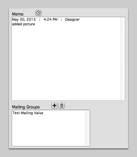 Memo & Mailing Groups