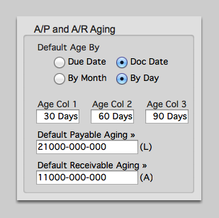 A/P and A/R Aging