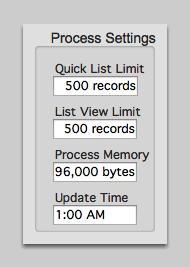Process Settings