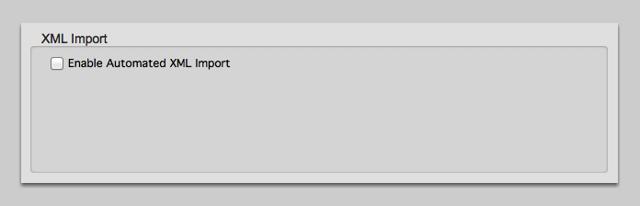 XML Import