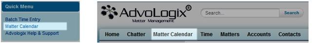 April 2014 Matter Calendar Enhancements