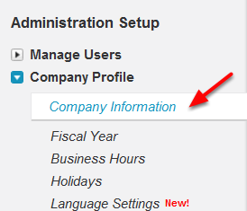 Navigate To Firm's Information Edit Screen