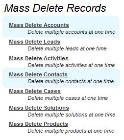 Mass Delete Record
