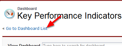 Alternately, Use Dashboard List