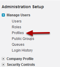 Navigate to Profiles