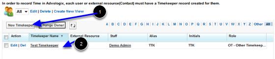 Timekeepers TAB