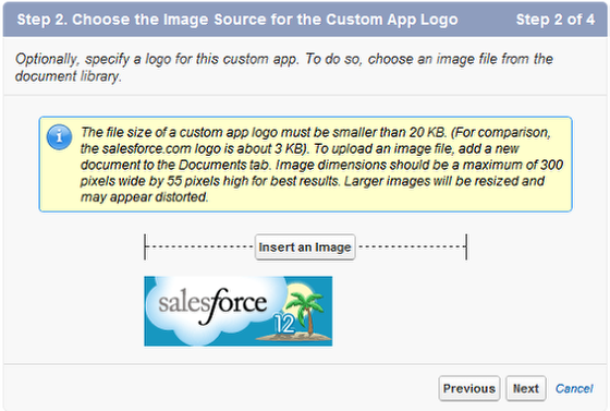 Step 2. Choose the Image Source for the Custom App Logo