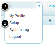 Navigate to the system setup