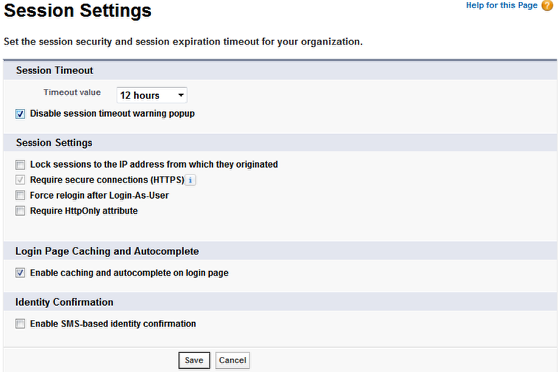 Setting Session Security