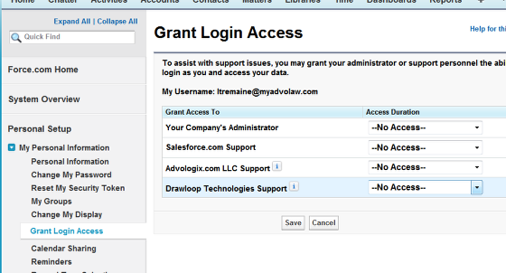 Package Support Access