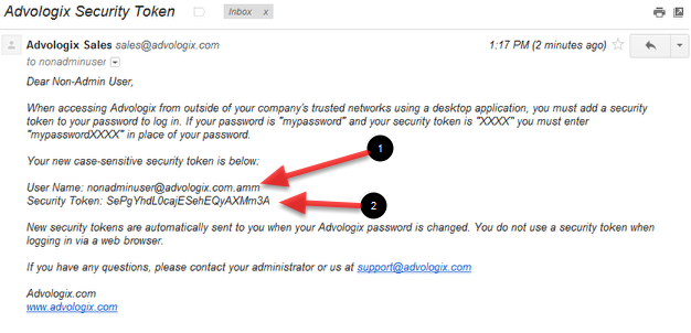 Seurity Token Email