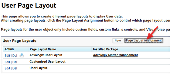 Option 1: Set 'Advologix USER Layout' as default User Layout