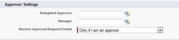 Approver Settings