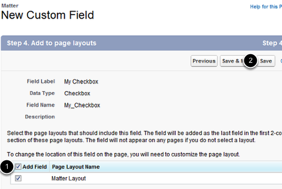 Ensure the new field is placed on your Page Layout (form)