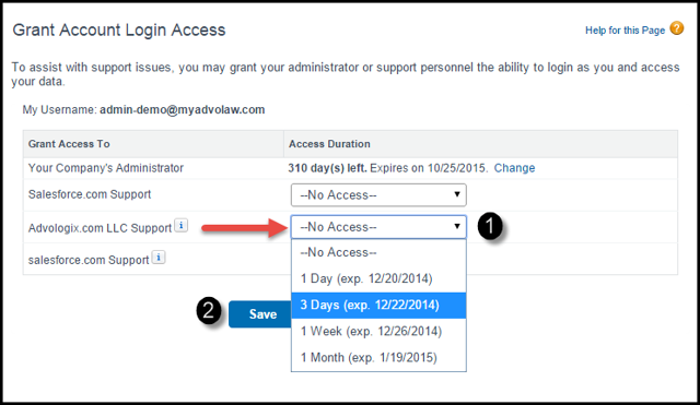 Grant Login Access to Advologix