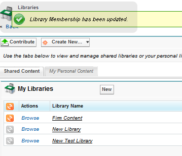 Library Membership addition Confirmation
