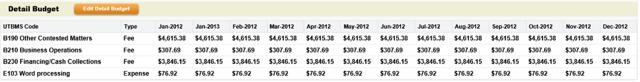 Detail Budget Breakdown