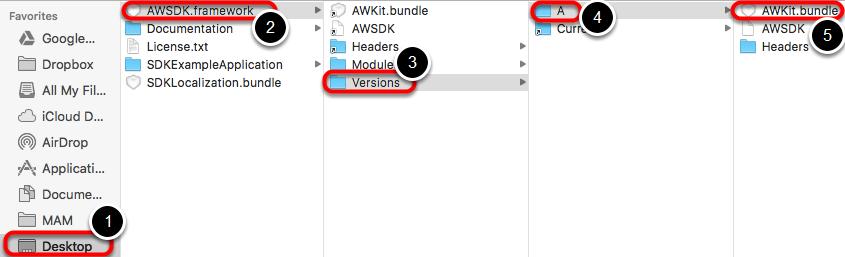 Select AWKit.bundle