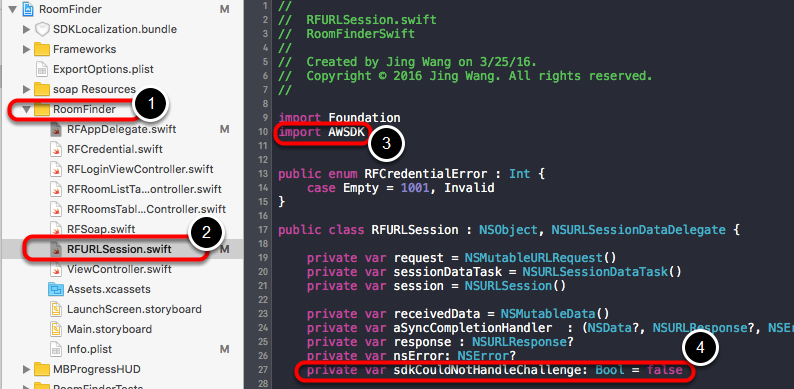 Import header and add a variable in RFURLSession.swift