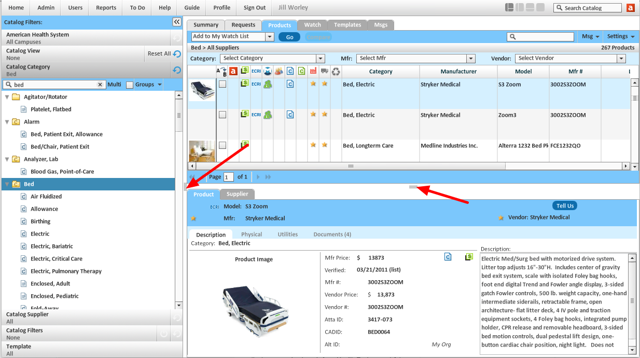 Adjusting Views, Product Filters, Categories, Suppliers panels