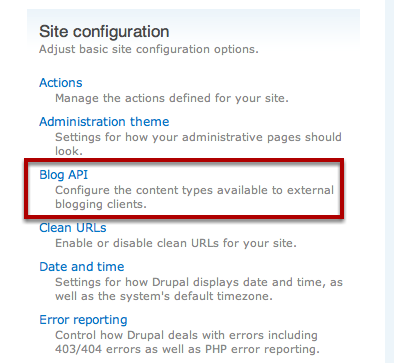 Enable Blog API