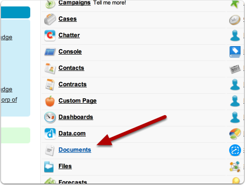 Navigate to the Documents tab