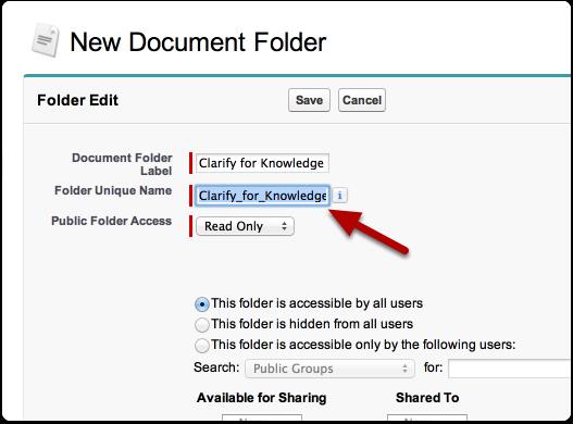 Name the folder