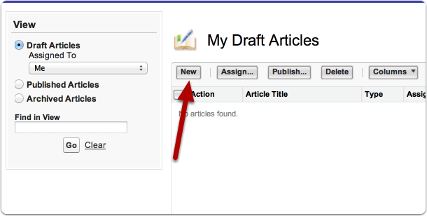 Create a new draft article