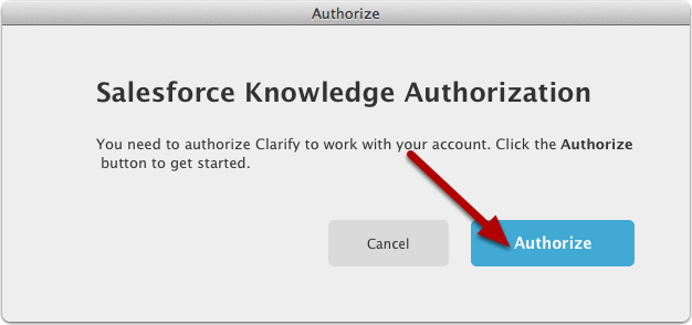 Click the Authorize button