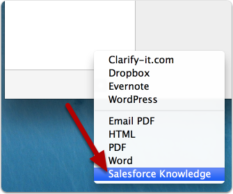 "Select ""Salesforce Knowledge"""