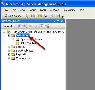 Open Microsoft SQL Server Management Studio