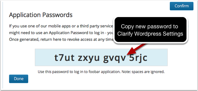 Password Generated
