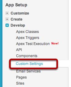 Open Custom Settings