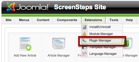 Plugin Manager Screen