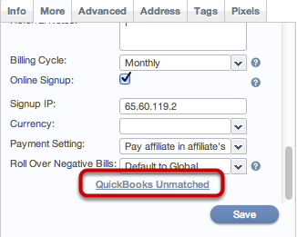 Synching of Affiliates