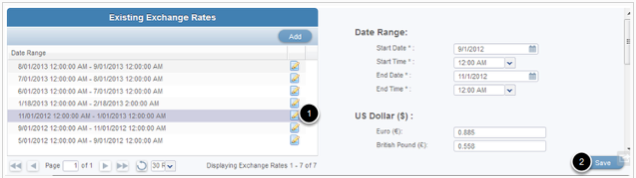 How To Update An Existing Rate