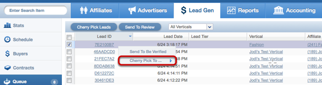 Another way to cherry pick leads from the Queue