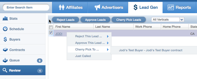 Another way to cherry pick leads from the Review Queue
