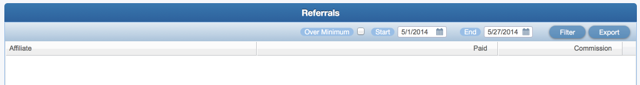 The Referral Report in the Affiliate Portal