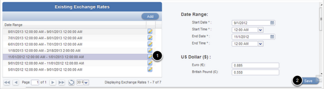 Update an existing rate